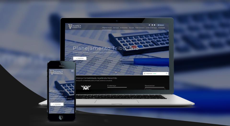 Web Site Aliança Contabilidade